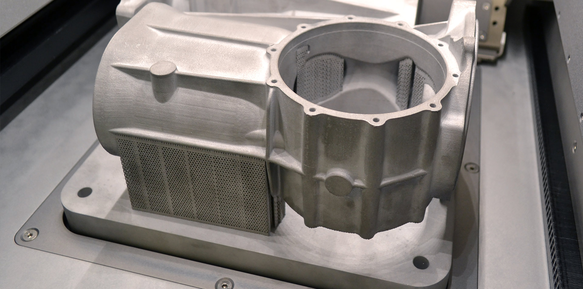 3D-printed spare part in metal