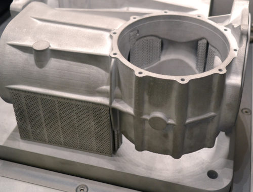 3D-printed spare part in metal