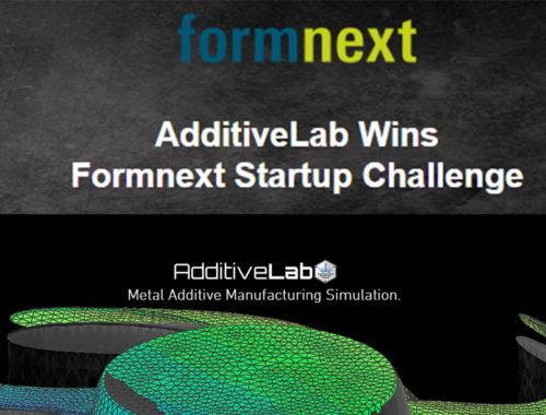 AdditiveLab wins Formnext Startup Challenge 2019