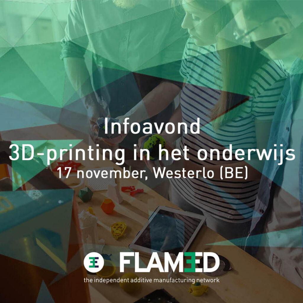 Infoavond 3D-printing in onderwijs