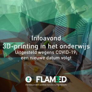 Infoavond 3D-printing in het onderwijs